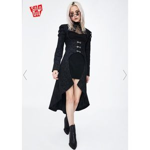 NWT Dolls Kill goth coat / jacket RRP$110